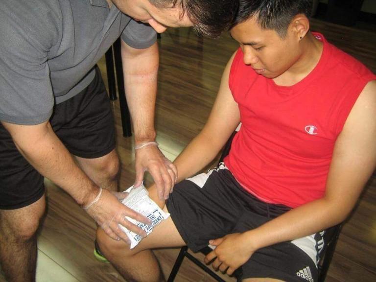 Wrist Injury Applying Ice